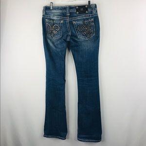 Miss me denim boot cut jeans SZ 27